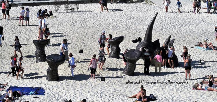 Sculptures by the sea das nilpferd