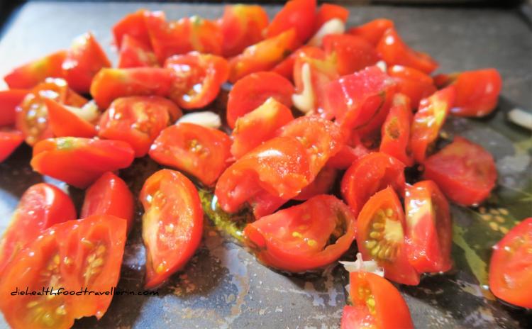 Auberginen Antipasti geroestete Tomaten