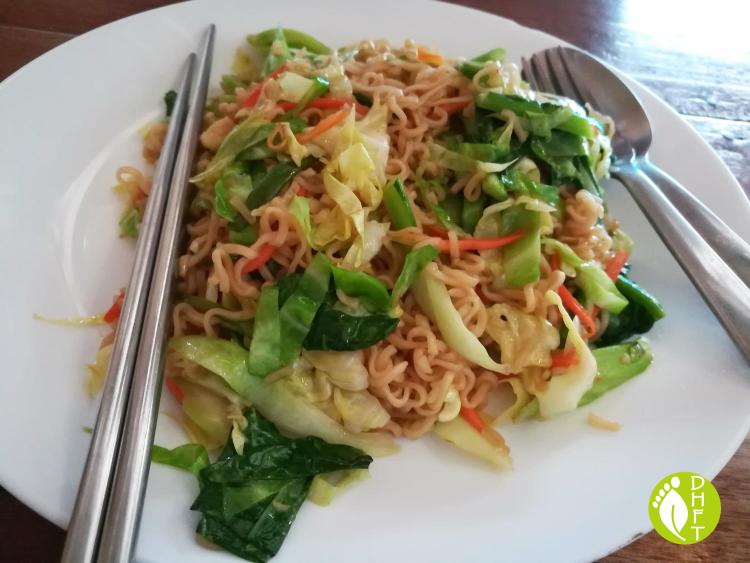 Cafe del Sunshine Lonely Beach gebratenen Nudeln vegetarisch
