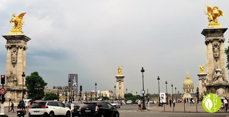 Paris Sehenswuerdigkeit Pont Alexandre vier Fames
