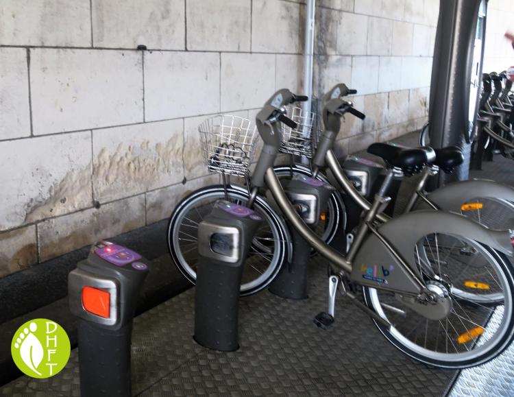 Verlib Paris Fahrradverleih an der Abholstation Pont DArcole